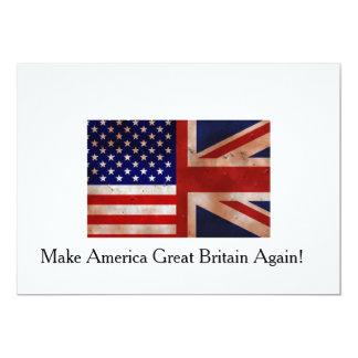 Anti trunfo: Faça América Grâ Bretanha outra vez! Convite 12.7 X 17.78cm