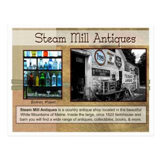 Antiguidades do moinho do vapor cartoes postais