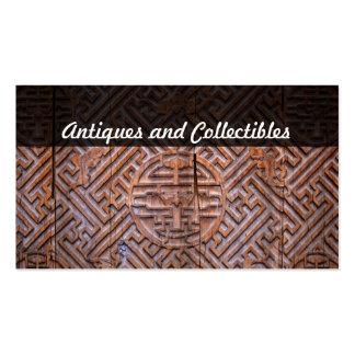 antiguidades e coleções cartão de visita