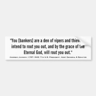 Antro de ANDREW JACKSON de citações das víboras &  Adesivo Para Carro
