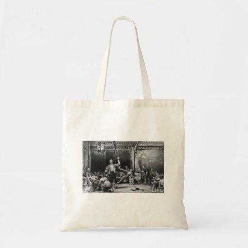 Antro de ópio - arte bolsa de lona