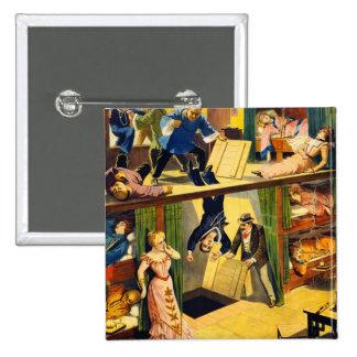 Antro de ópio Murder do vaudeville retro do kitsch Bóton Quadrado 5.08cm