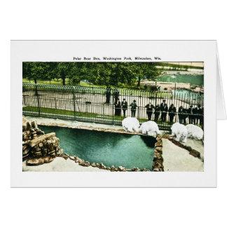 Antro do urso polar, parque de Washington, Cartão Comemorativo