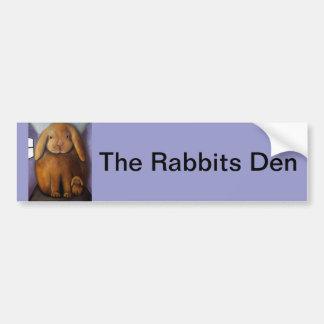 Antro dos coelhos adesivo para carro