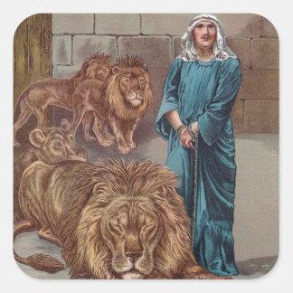 Antro dos leões de Daniel Adesivo Quadrado