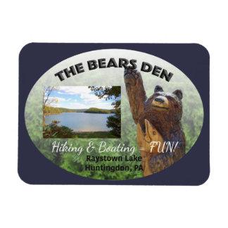 Antro dos ursos customizável foto com ímã retangular