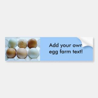 Anuncie sua fazenda ar livre do ovo! adesivo para carro