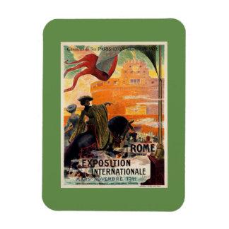 Anúncio 1911 antigo do viagem da expo de Roma do Foto Com Ímã Retangular