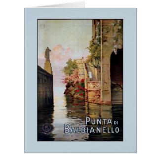 Anúncio 1920 italiano do viagem de Como Lenno do Cartão Comemorativo Grande