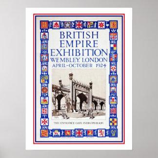 Anúncio 1924 da exposição do Império Britânico do  Poster
