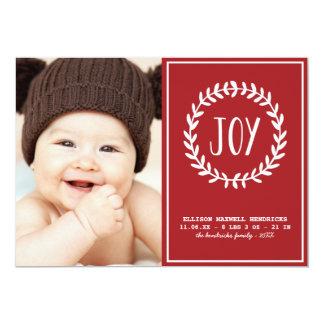Anúncio alegre do nascimento do feriado dos