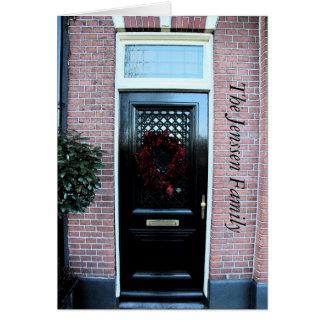 Anúncio clássico do endereço da porta da rua