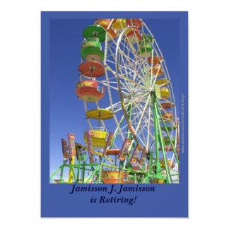 Anúncio da aposentadoria, roda de Ferris Convite 12.7 X 17.78cm