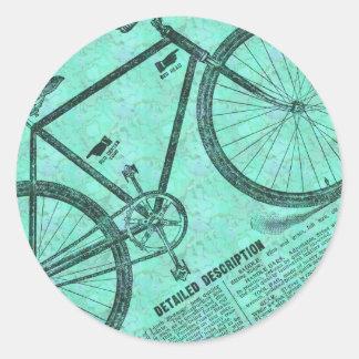 Anúncio da bicicleta adesivo