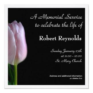 Anúncio da cerimonia comemorativa convite quadrado 13.35 x 13.35cm