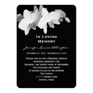 Anúncio da cerimonia comemorativa - orquídeas convite 12.7 x 17.78cm