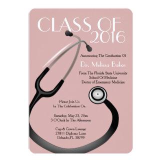 Anúncio da graduação da Faculdade de Medicina do Convite 12.7 X 17.78cm