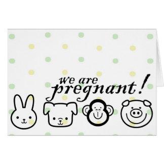 Anúncio da gravidez cartão comemorativo