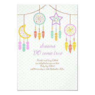 Anúncio da gravidez de Dreamcatcher do bebê Convite 8.89 X 12.7cm