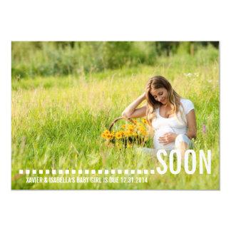 ......... Anúncio da gravidez de LOGO | Convite 12.7 X 17.78cm