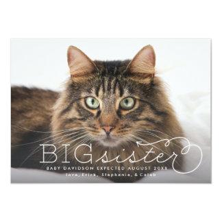 Anúncio da gravidez do animal de estimação da foto convite 11.30 x 15.87cm