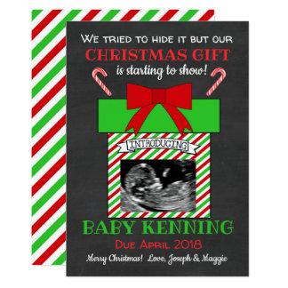 Anúncio da gravidez do Natal do ultra-som