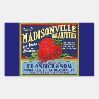 Anúncio da morango do LA de Madisonville do Adesivo Retangular