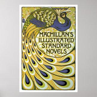 Anúncio das novelas de Macmillan do nouveau da Pôster