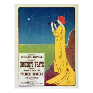 Anúncio de Bruxelas do concerto da música clássica Cartão Postal