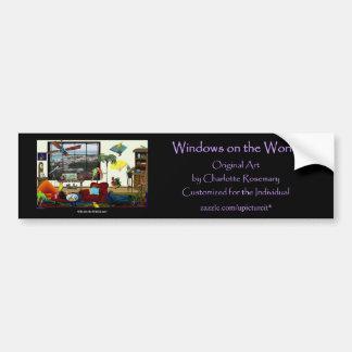 Anúncio do autocolante no vidro traseiro do wow adesivo para carro