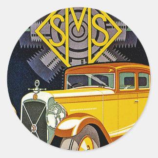 Anúncio do automóvel de Salmson do vintage Adesivos Em Formato Redondos