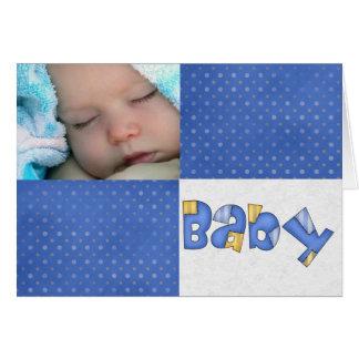 Anúncio do bebê cartão comemorativo