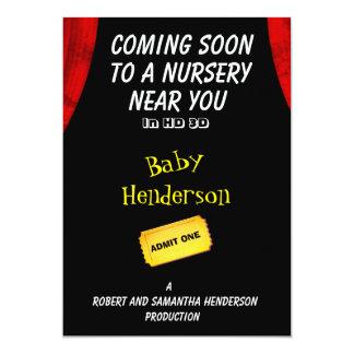 Anúncio do bebê do tema do filme do divertimento -