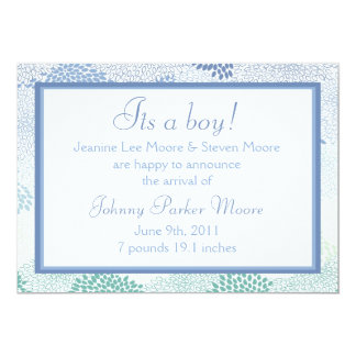 Anúncio do bebê (menino)! convite 12.7 x 17.78cm