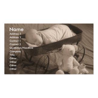 Anúncio do bebê ou negócio da criança cartões de visitas