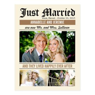 Anúncio do casamento da notícia do casamento - Tan Cartão Postal