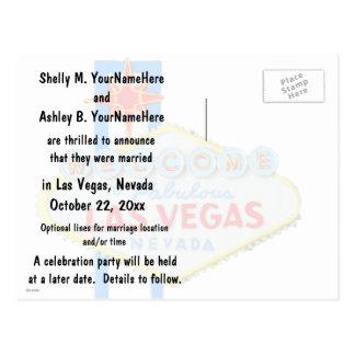 Anúncio do casamento de Las Vegas Cartão Postal