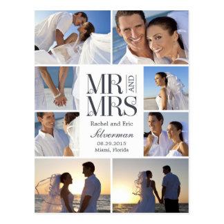 Anúncio do casamento do montagem do casamento - br cartoes postais