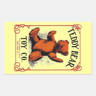 Anúncio do Co do brinquedo do urso de ursinho da Adesivo Retangular