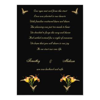 Anúncio do elopement dos lírios e das borboletas convite 13.97 x 19.05cm