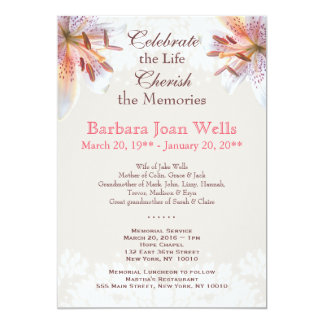 Anúncio do funeral da cerimonia comemorativa do