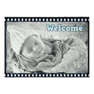 Anúncio do nascimento da foto da tira do filme do