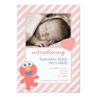 Anúncio do nascimento de Elmo Convite 12.7 X 17.78cm