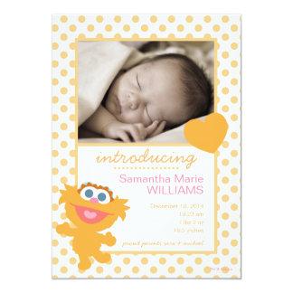 Anúncio do nascimento de Zoe Convite 12.7 X 17.78cm