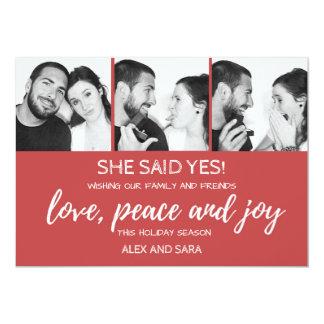 Anúncio do noivado do cartão de Natal