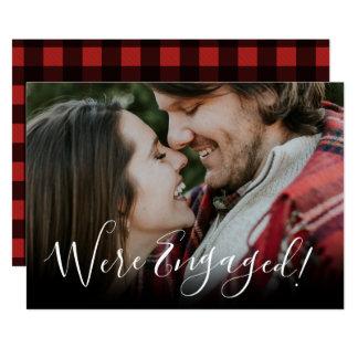 Anúncio do noivado do feriado do Natal