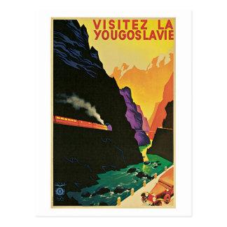 Anúncio do viagem de Jugoslávia da visita dos anos Cartão Postal
