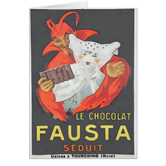 Anúncio do vintage do diabo do chocolate