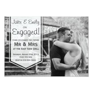 Anúncio elegante do noivado convite 12.7 x 17.78cm