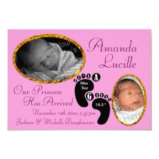 Anúncio elegante e do divertimento do nascimento convites